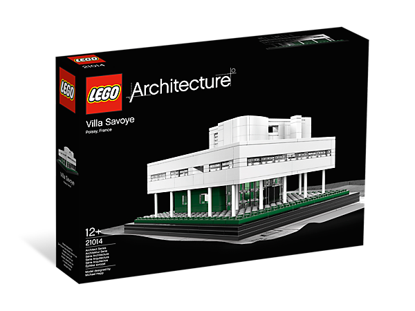 recreate the villa savoye within a building set featuring the iconic details of this modernist marvel
