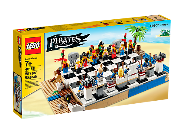 It S Pirates Versus Bluecoats In This Fun Chess Set With Buildable Beach Themed Board