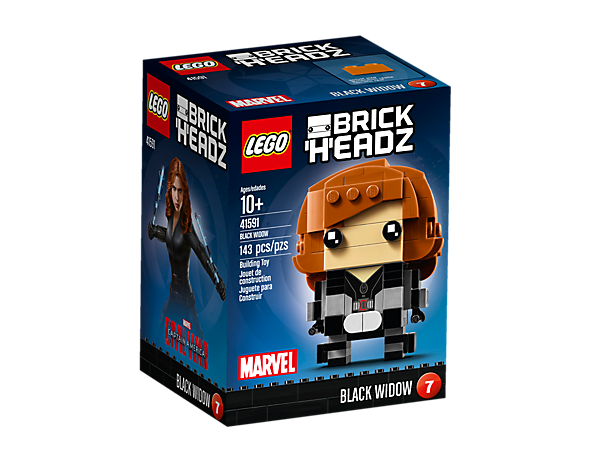 <p>Build Black Widow in the new-for-March-2017 LEGO® BrickHeadz set, with iconic costume, buildable iconic hair and two detachable batons, plus a display baseplate.</p>
