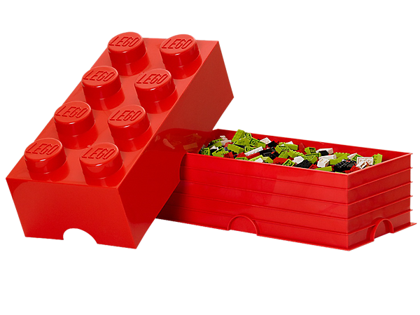 LEGO® 8-stud Red Storage Brick - 5000463 | LEGO Shop