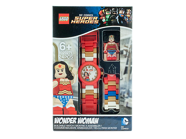 keep perfect time with this wonder woman analog quartz watch featuring a buildable - Lego Wonder Woman