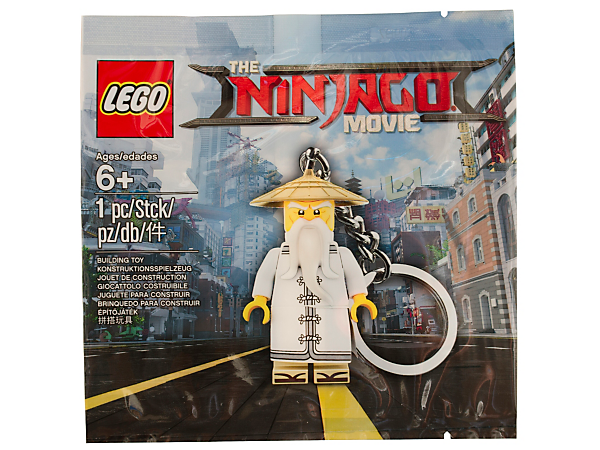 the lego ninjago movie sensei wu key chain 5004915 lego shop