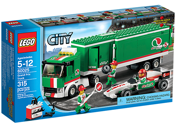 transport the race car with the truck featuring an articulated trailer 3 minifigures and lots - Camion Lego