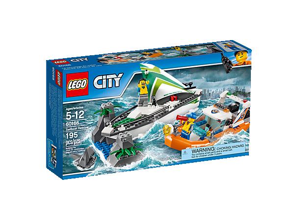 les gardes ctes de lego city doivent effectuer un sauvetage de voilier prilleux - Lego City Bateau