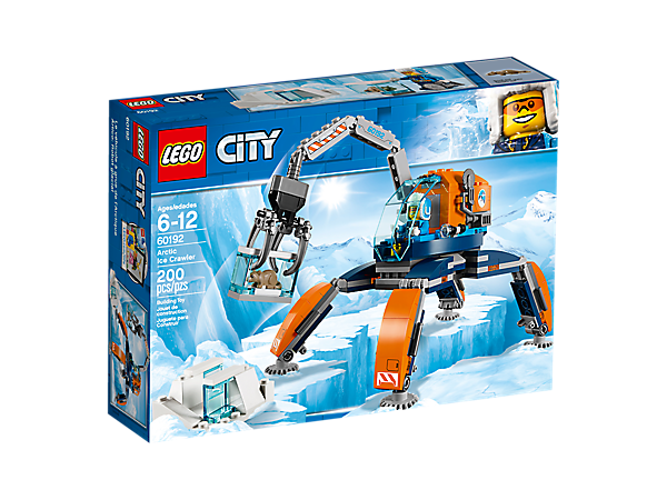 <p>Walk across hard terrain with the Arctic Ice Crawler, featuring an articulated arm and posable legs, plus an ice block with removable section, a minifigure and a rodent figure.</p>