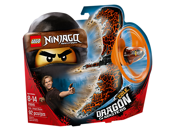 <p>Master aerial tricks and compete against friends with the Cole - Dragon Master flyer, with a LEGO® brick handle, minifigure capsule, blade element, dragon wings and rip cord.</p>