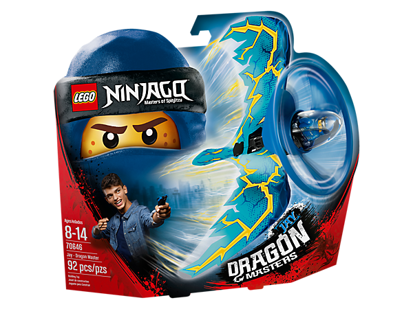 <p>Learn cool tricks and compete against friends with the Jay - Dragon Master flyer, with a LEGO® brick handle, minifigure capsule, blade element, dragon wings and rip cord.</p>