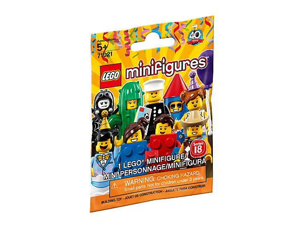 <p>Celebrate 40 years of minifigures with the LEGO® Minifigures Party series, featuring 16 brightly dressed characters with party accessories, plus a replica of one of the first minifigures ever produced.</p>