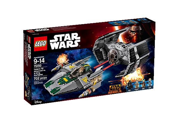 Vaders Tie Advanced Vs A Wing Starfighter 75150 Star Wars