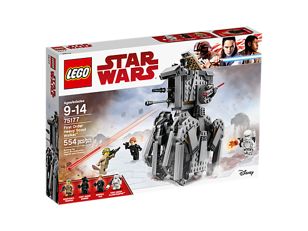 <p>Show the Resistance some cool tech with the First Order Heavy Scout Walker, featuring an opening cockpit, elevating spring-loaded shooters, hidden wheels and 'crawling' legs.</p>
