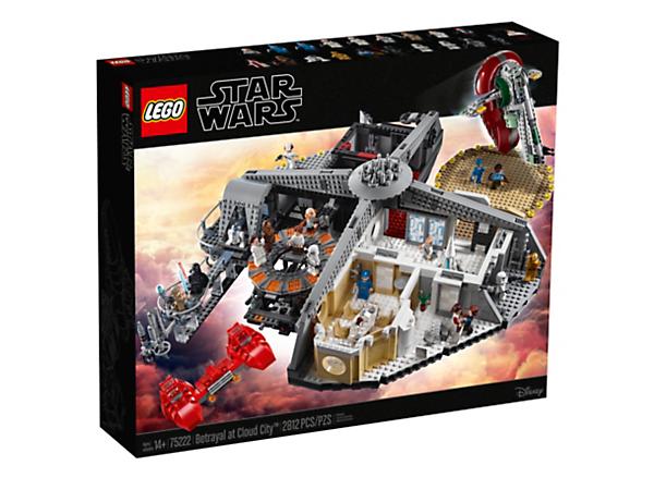 Beleef de mooiste avonturen in Cloud City met deze LEGO® Star Wars set inclusief carbon vriesruimte, verhoorkamer, landingsplatformen, sensorbalkon, 18 minifiguren, 2 droids, 2 ruimteschepen en nog veel meer!