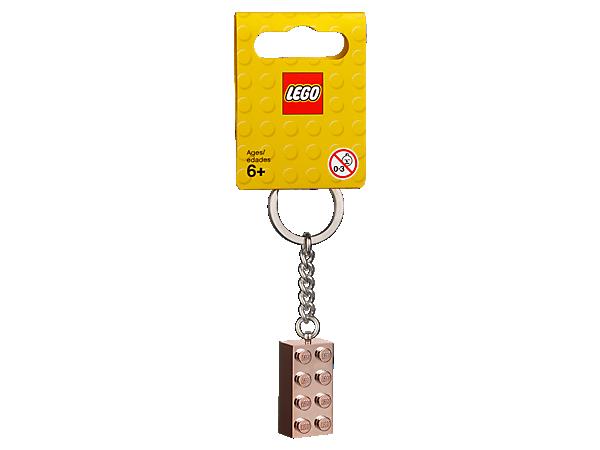 2x4 Rose Gold Key Chain 853793 Lego Shop