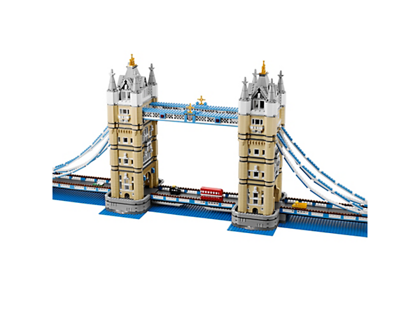 Stretch your LEGO® building fun with the world-famous Tower Bridge, features iconic towers, working drawbridge and red double-decker bus!
