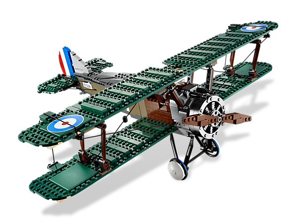 Build and fly a huge replica of the famous British biplane loaded with rare bricks and functions to match its real-life counterpart!