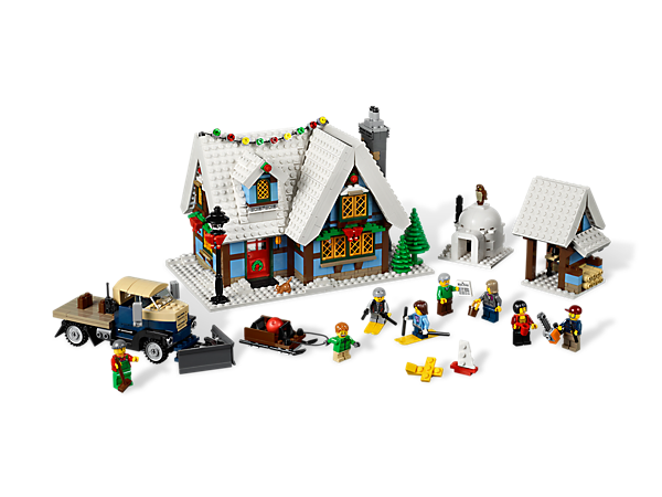 build a holiday home with the winter village cottage includes christmas tree fireplace with