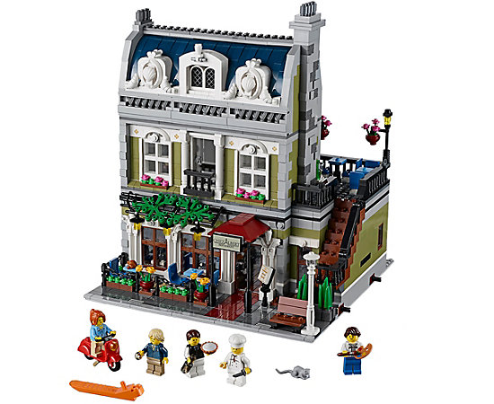 Parisian restaurant 10243 creator expert lego shop - Modele construction maison lego ...