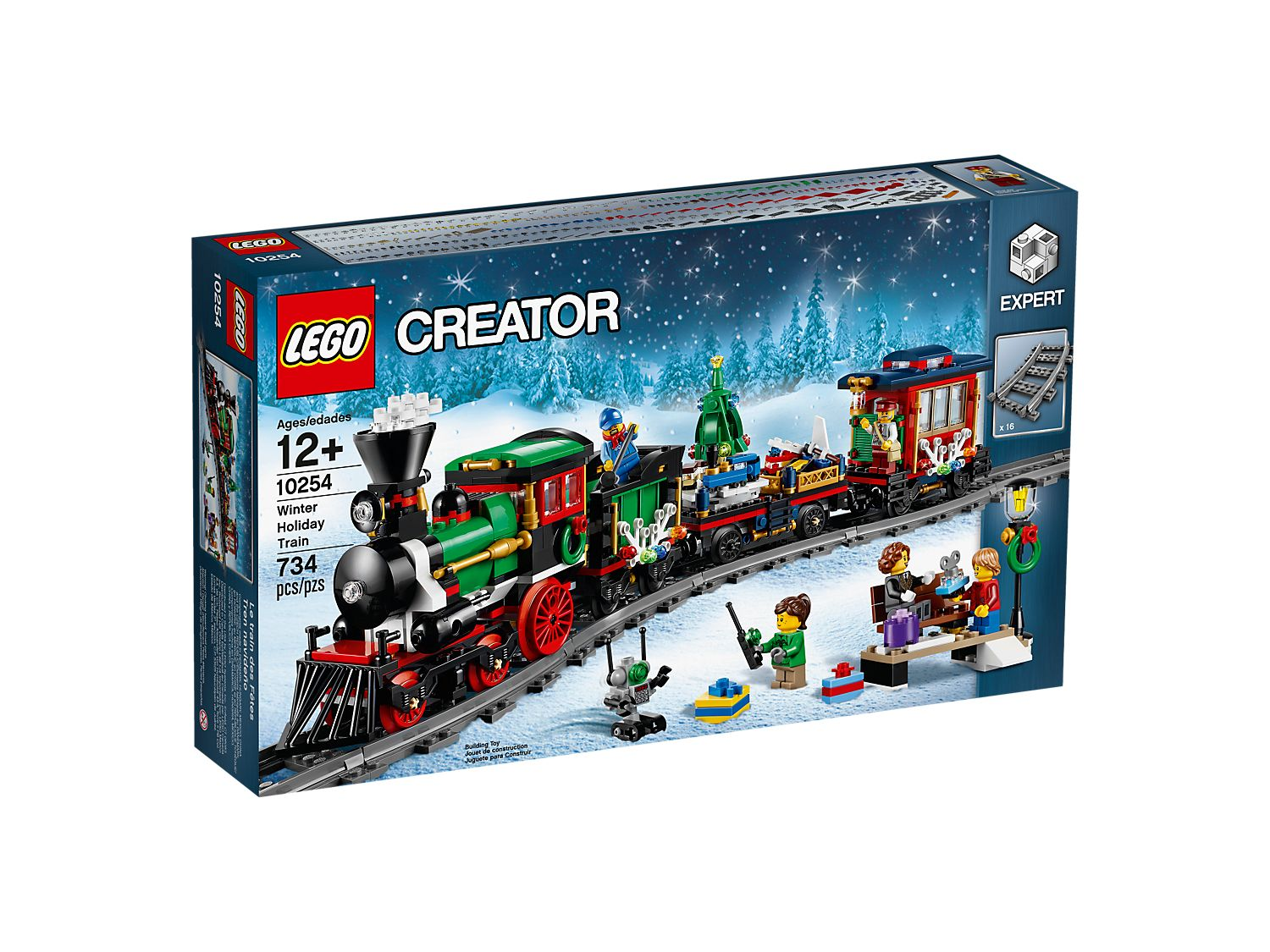 Lego Christmas Train.Winter Holiday Train 10254 Creator Expert Buy Online At The Official Lego Shop Us