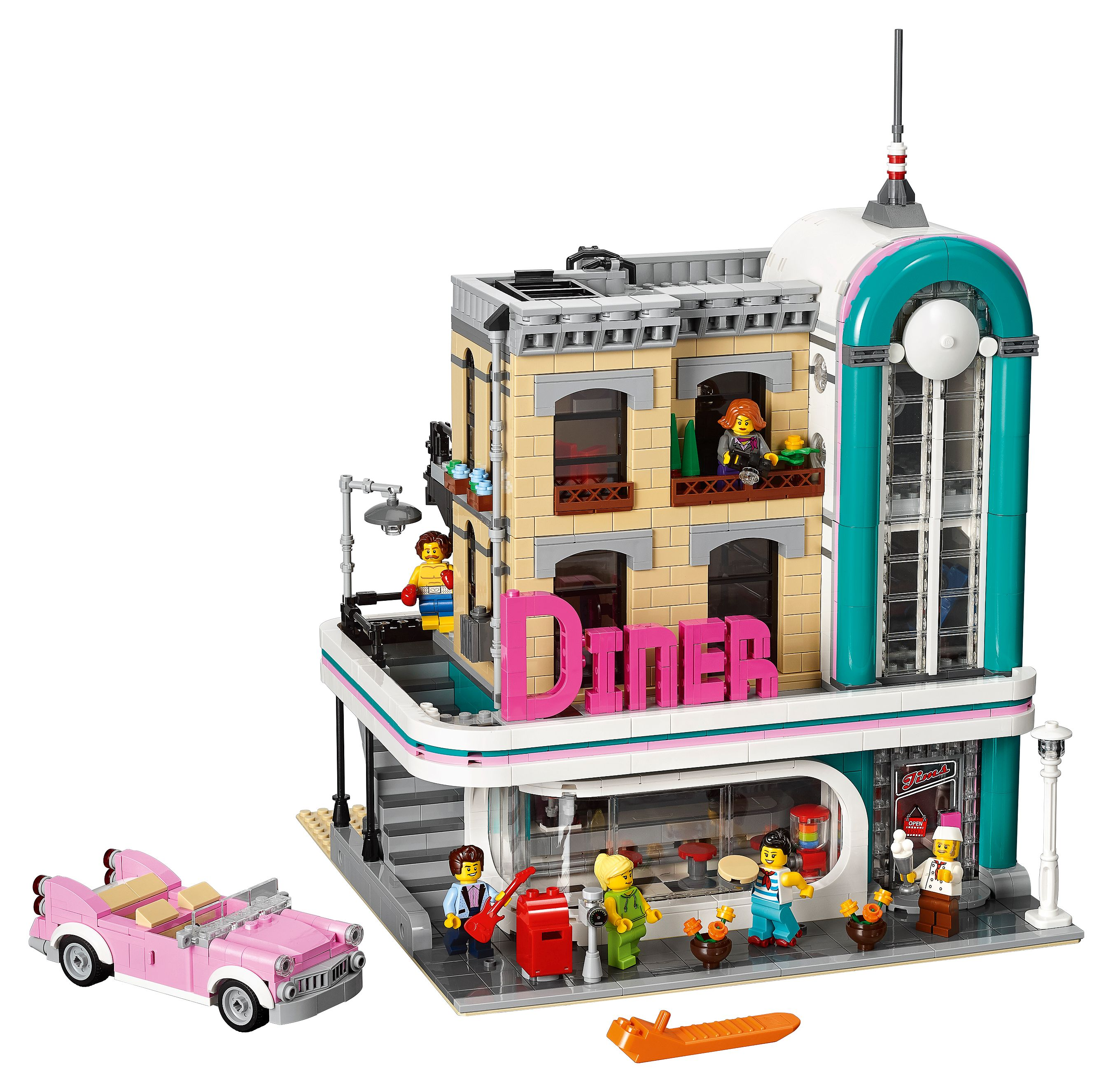 Downtown Diner 10260   Creator Expert   Buy online at the Official LEGO®  Shop AT
