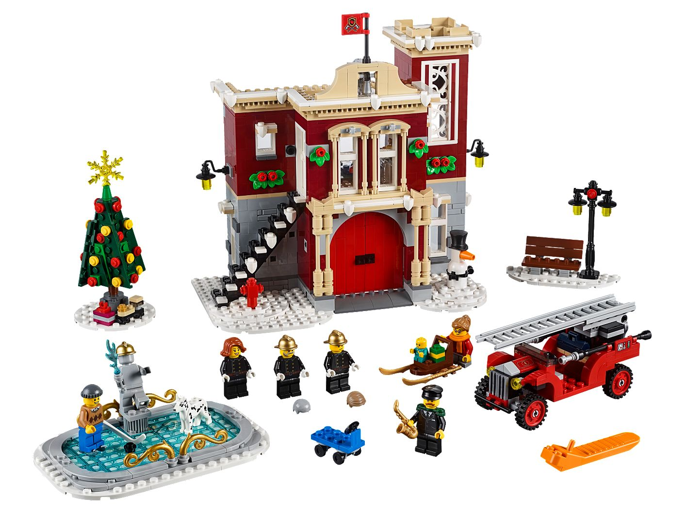 Lego Christmas.Winter Village Fire Station 10263 Creator Expert Buy Online At The Official Lego Shop Us