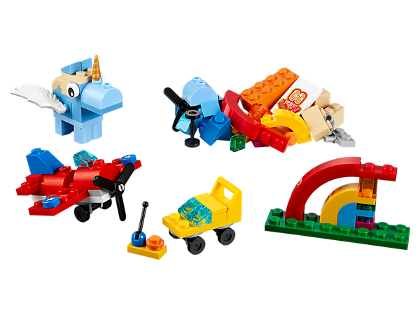 Let your child discover what's at the end of the rainbow with this range of colorful LEGO® bricks and special elements! Inspire your child to think bigger and be creative!