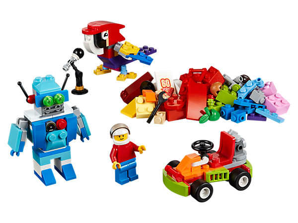 Let your child build the future of robots or cars with this range of colorful bricks, special elements and a minifigure. Inspire your child to think bigger and be creative!