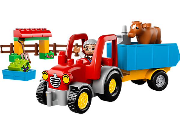 Explore product details and fan reviews for buildable toy Farm Tractor 10524 from DUPLO®. Buy today with The Official LEGO® Shop Guarantee.