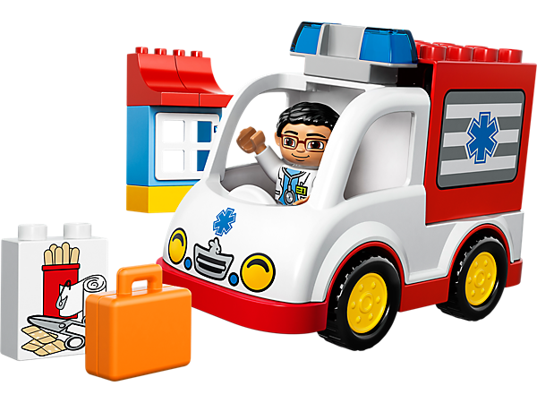 Explore product details and fan reviews for buildable toy Ambulance 10527 from DUPLO®. Buy today with The Official LEGO® Shop Guarantee.