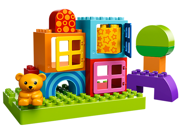Start building creativity with Toddler Build and Play featuring a bear, building plate and extra-large LEGO® DUPLO® bricks for toddlers!