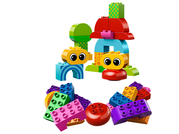Build big animal fun with the Toddler Starter Building Set featuring extra-large DUPLO bricks with fun decals for creating friendly faces!