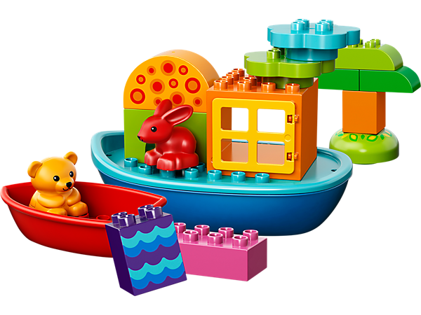 Inspire bath time fun with the LEGO® DUPLO® Toddler Build and Boat Fun set with colorful boats and additional assorted DUPLO bricks.