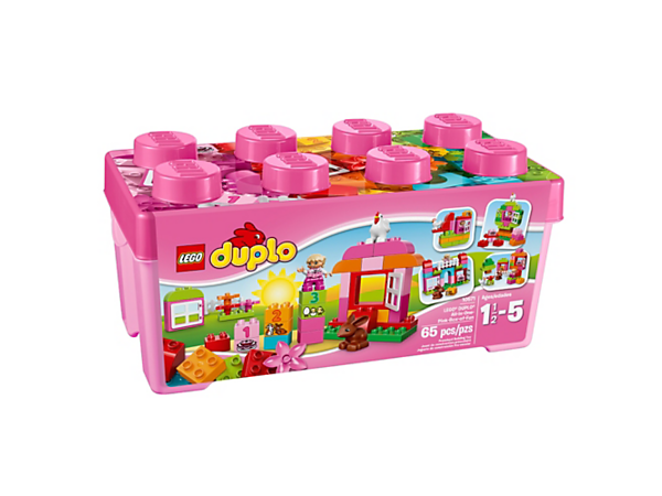 Explore product details and fan reviews for buildable toy LEGO® DUPLO® All-in-One-Pink-Box-of-Fun 10571 from DUPLO Creative Play. Buy today with The Official LEGO® Shop Guarantee.