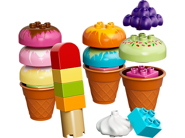 Explore product details and fan reviews for buildable toy Creative Ice Cream 10574 from DUPLO®. Buy today with The Official LEGO® Shop Guarantee.