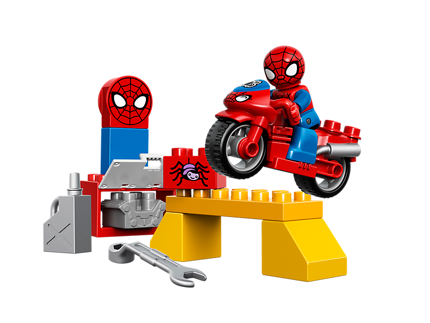 Lego Spider - man Web - bike Workshop