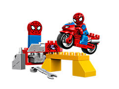L'atelier de la moto-araignée de Spider-Man