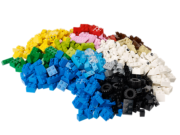 <p>Get building with the LEGO® Creative Bucket's 607 elements to create animals, buildings, vehicles and hundreds of rare bright blue pieces!</p>