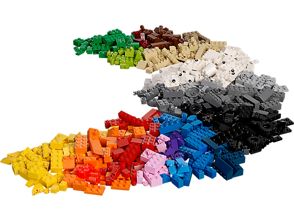 Feed your child's imagination with this 600 brick LEGO® Creative Building Cube set full of inspirational shapes and colorful bricks.
