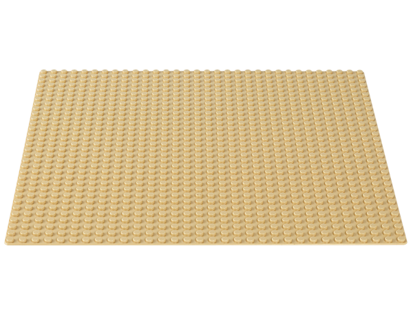 This LEGO® Classic Sand Baseplate is a great supplement to any LEGO collection and is the perfect starting point for your inspired, open-ended building play.
