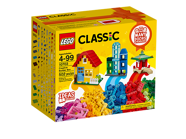 Create your own town with this colorful LEGO® Classic Creative Builder Box, including more than 500 bricks in 39 colors, plus special elements and an inspirational guide.