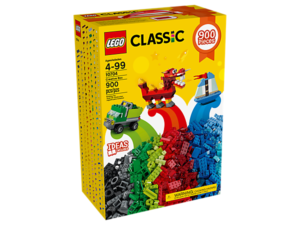 Create an endless world of fun with this colorful LEGO® Classic Creative Box, including more than 890 bricks in 39 colors, plus special elements and an inspirational building guide.