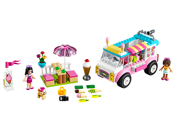 <p>Head out for some ice cream with Andrea and Emma at the ice cream truck. Features Easy to Build models, ice cream elements and a sign, plus 2 mini-dolls and a puppy.</p>