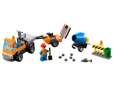 Le camion de réparation des routes