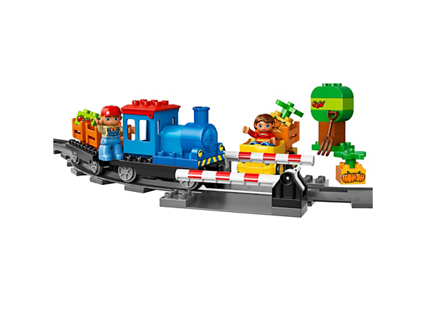 Push the train around the track and open up the level crossing to let the car through, to teach your child about traffic safety. Includes 2 LEGO® DUPLO® figures.