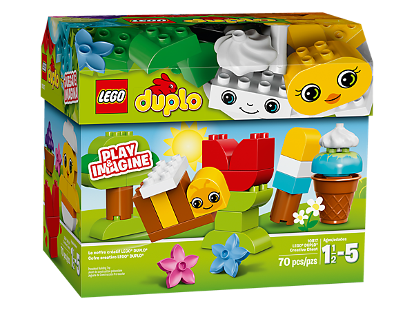 Fire your child's imagination with this box full of colorful, chunky LEGO® DUPLO® bricks, with inspiration for simple models to make all year round.