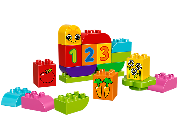 In this set the chunky LEGO® DUPLO® bricks can be used to build a caterpillar or a butterfly, while the special decorated bricks encourage counting and matching.