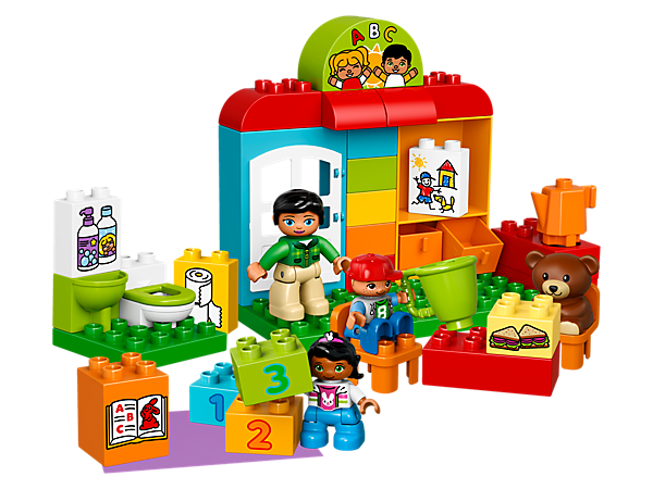Play out everyday preschool routines with your child in this fun and colorful LEGO® DUPLO® set, to help reinforce learning and encourage early role-play skills.