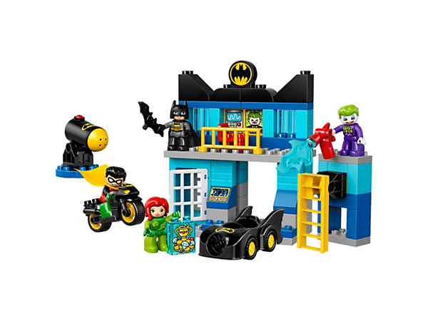 <p>Help Batman™ and Robin stop The Joker and Poison Ivy from stealing items from the Batcave, including the Batcave with a cannon, Batmobile™, Batcycle, jail and four LEGO® DUPLO® figures.</p>