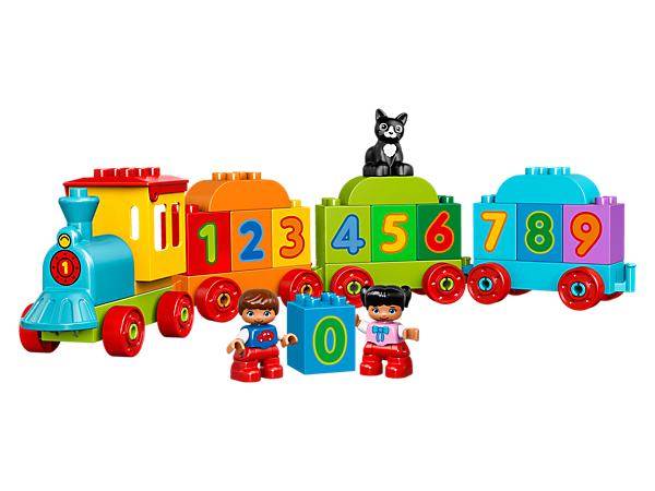 Little train drivers will love to practice early number recognition and counting skills as they build and play with this colorful train.