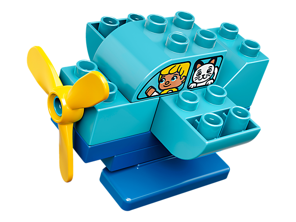 Your toddler will love to fly the LEGO® DUPLO® My First Plane all day long—a quick and simple build for hours of fun.
