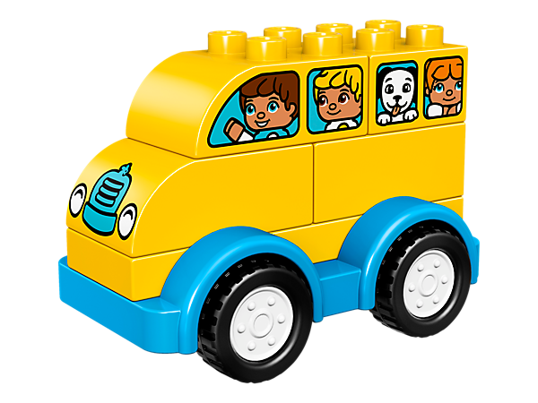 Your toddler will love to take the yellow LEGO® DUPLO® My First Bus for a spin, to combine early building and fine motor skills with hours of driving fun.