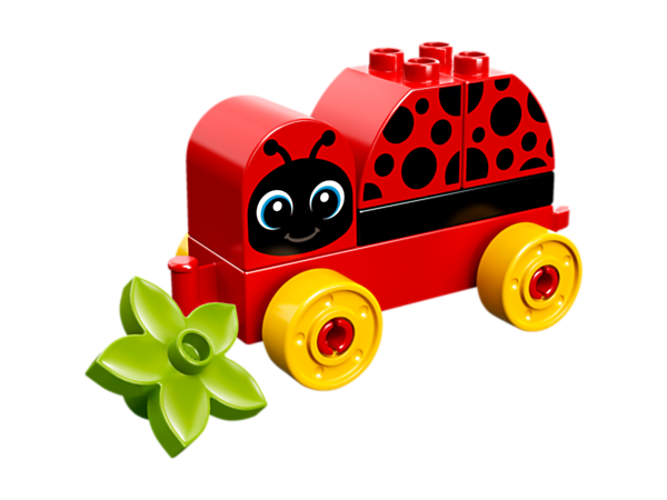 Toddlers will love wheeling this My First Ladybug around, developing fine motor skills as they put it together and creating stories around its asleep and awake facial expressions.